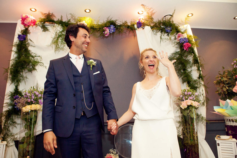 Le mariage au thème romantique et moderne de Mlle Delprincesse avec un dress-code pastel
