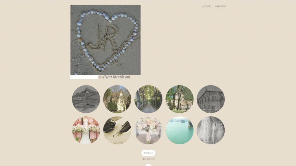 Un site Internet pour mon mariage