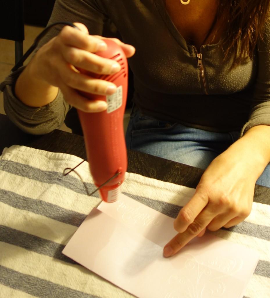 La réalisation DIY de mon faire-part avec de la dentelle