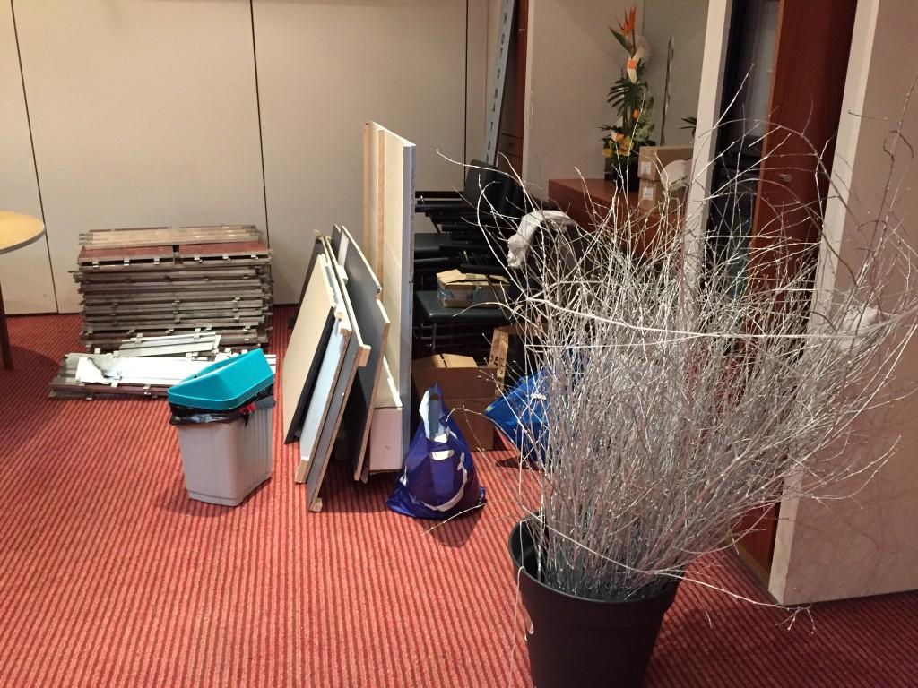 Derniers préparatifs et déménagement de la décoration