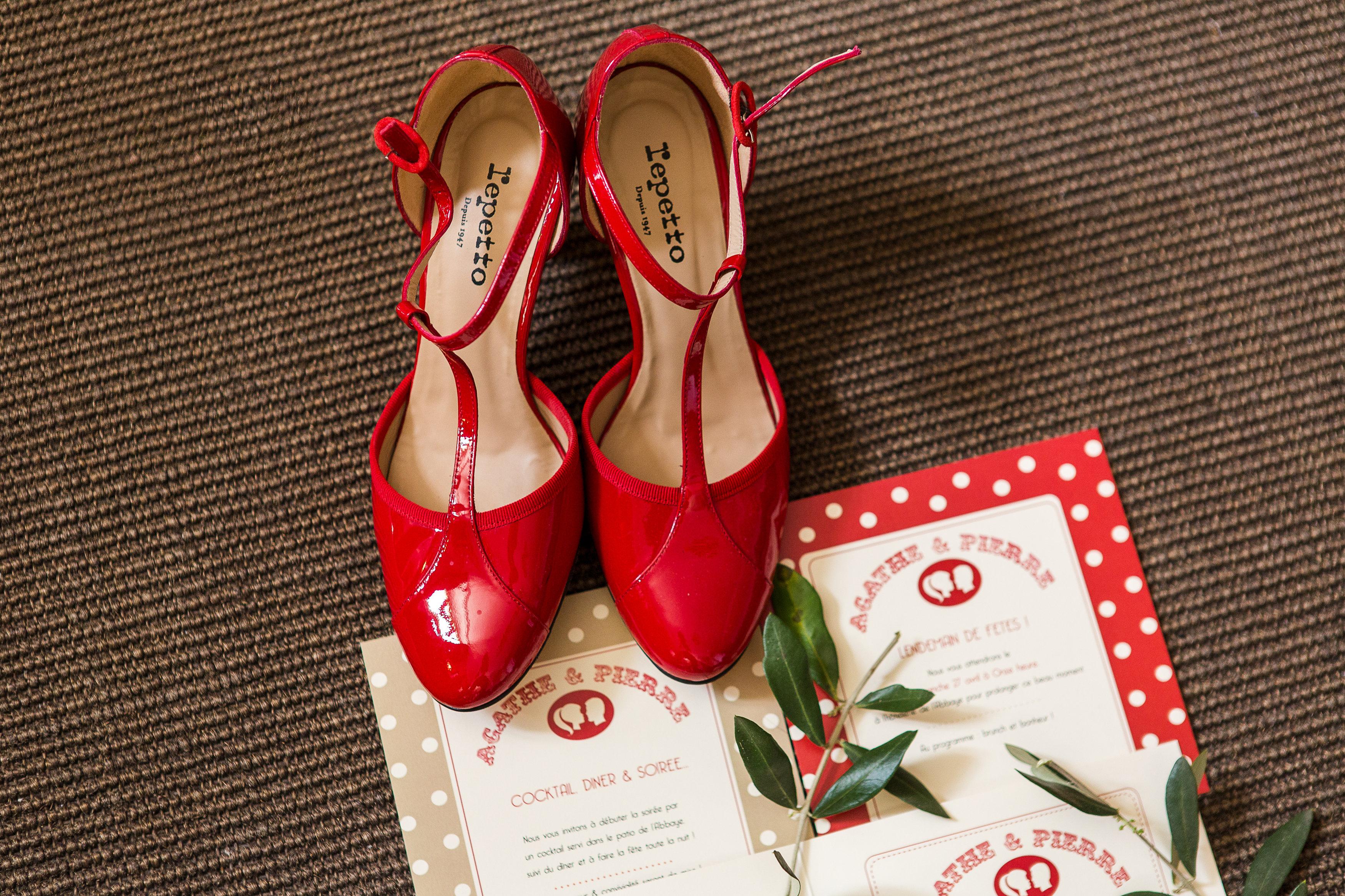 le mariage r tro en rouge pois blanc et en provence de