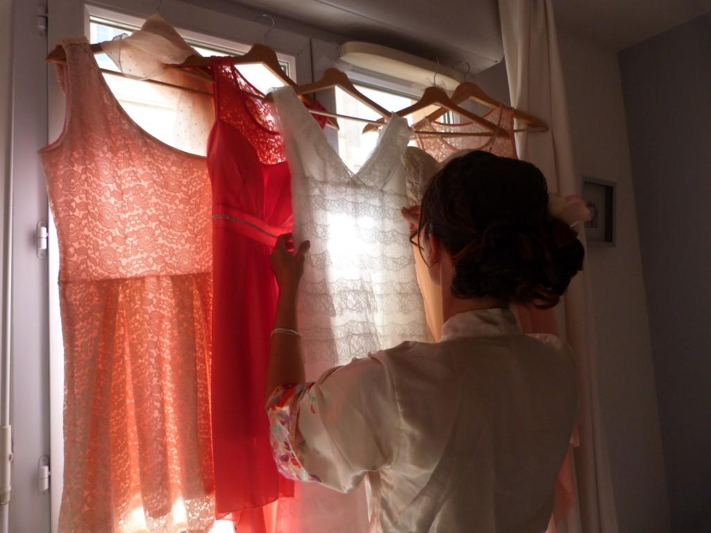 Préparatifs et habillage de la mariée