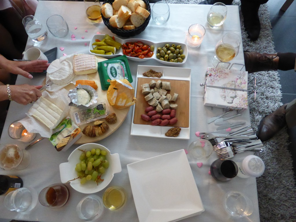 Apéro dînatoire pour notre mariage civil