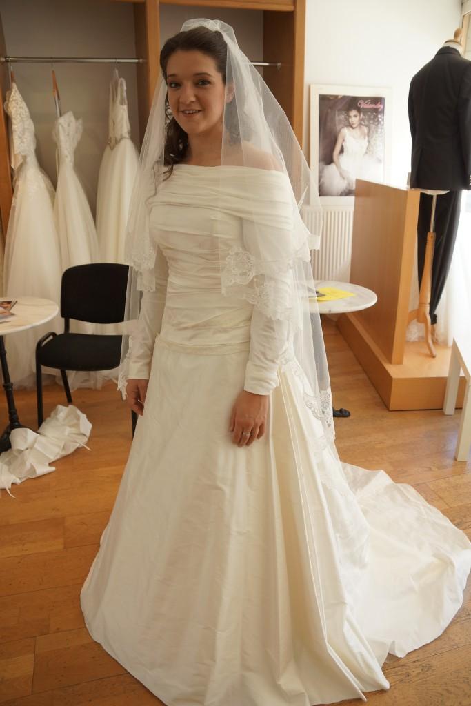Mes essais de robe, avec le col et les manches amovibles