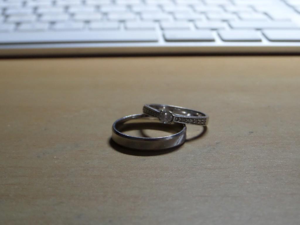 Nos 2 bagues de fiançailles qui seront aussi nos alliances