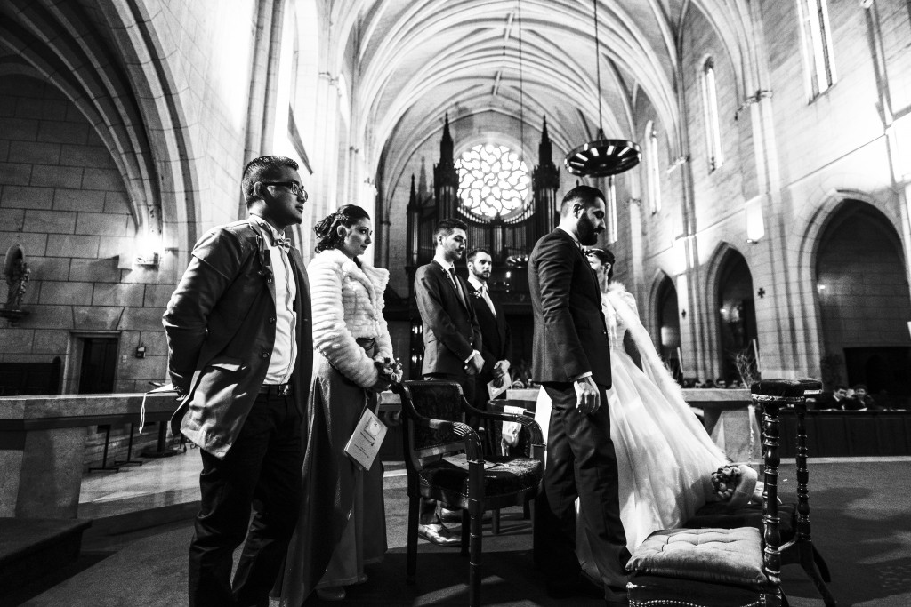 Déroulé de notre cérémonie religieuse : échange des voeux et des alliances // Photo : Basile Crespin pour OccitanMultimédia