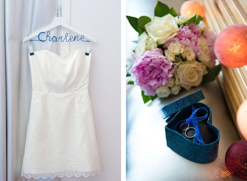 Le mariage civil de Charlène en bleu (3)