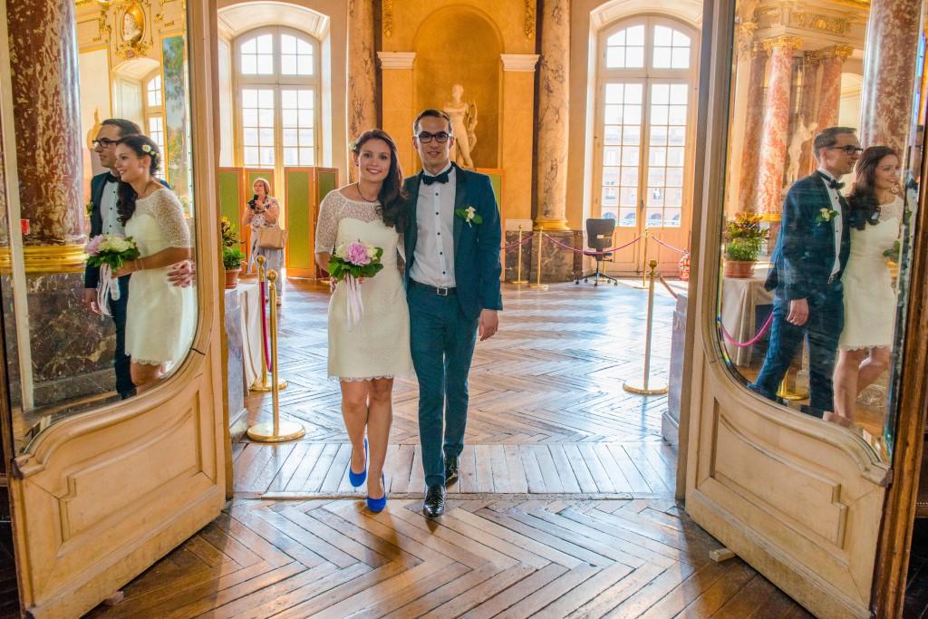 Le mariage civil de Charlène en bleu (8)