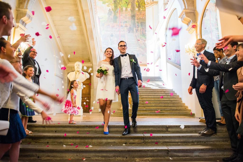 Le mariage civil de Charlène en bleu (9)