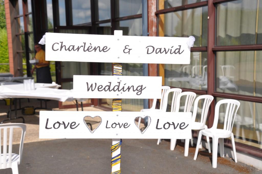 Le mariage de Charlène en bleu avec une touche de jaune et des paillettes (10)