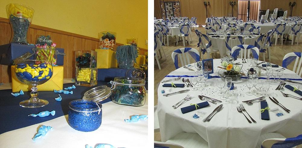 Le mariage de Charlène en bleu avec une touche de jaune et des paillettes (14)