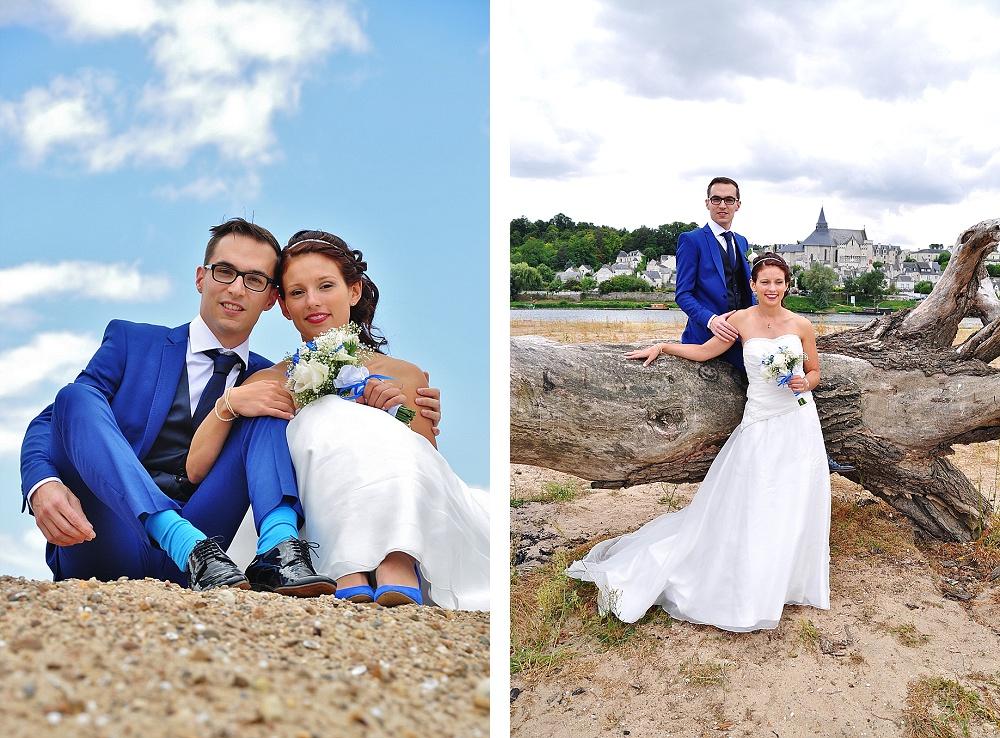 Le mariage de Charlène en bleu avec une touche de jaune et des paillettes (6)