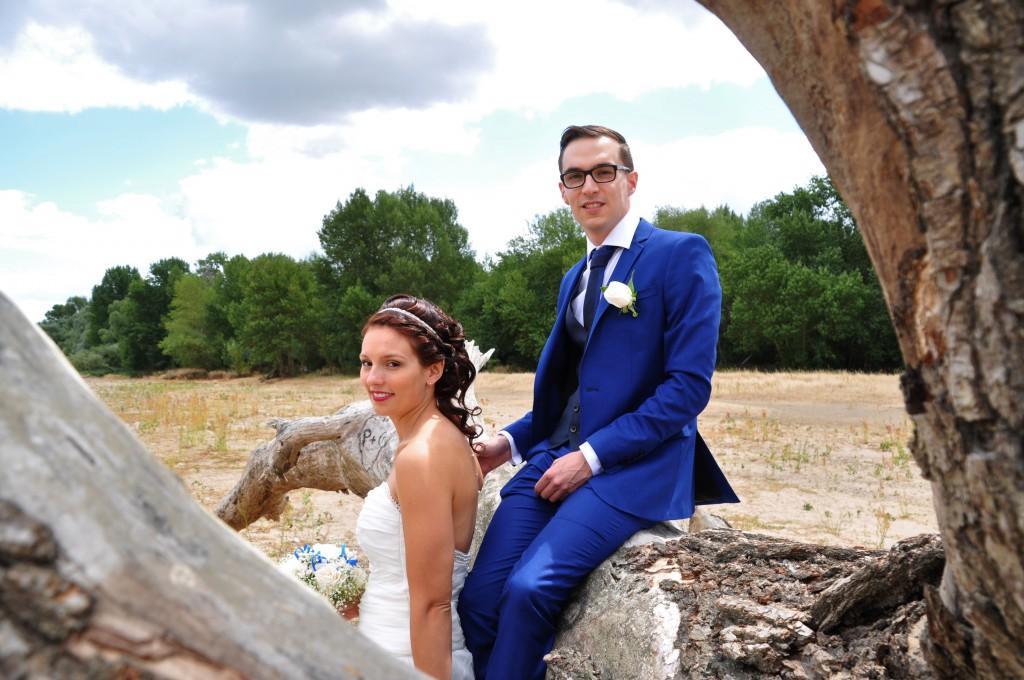 Le mariage de Charlène en bleu avec une touche de jaune et des paillettes (7)