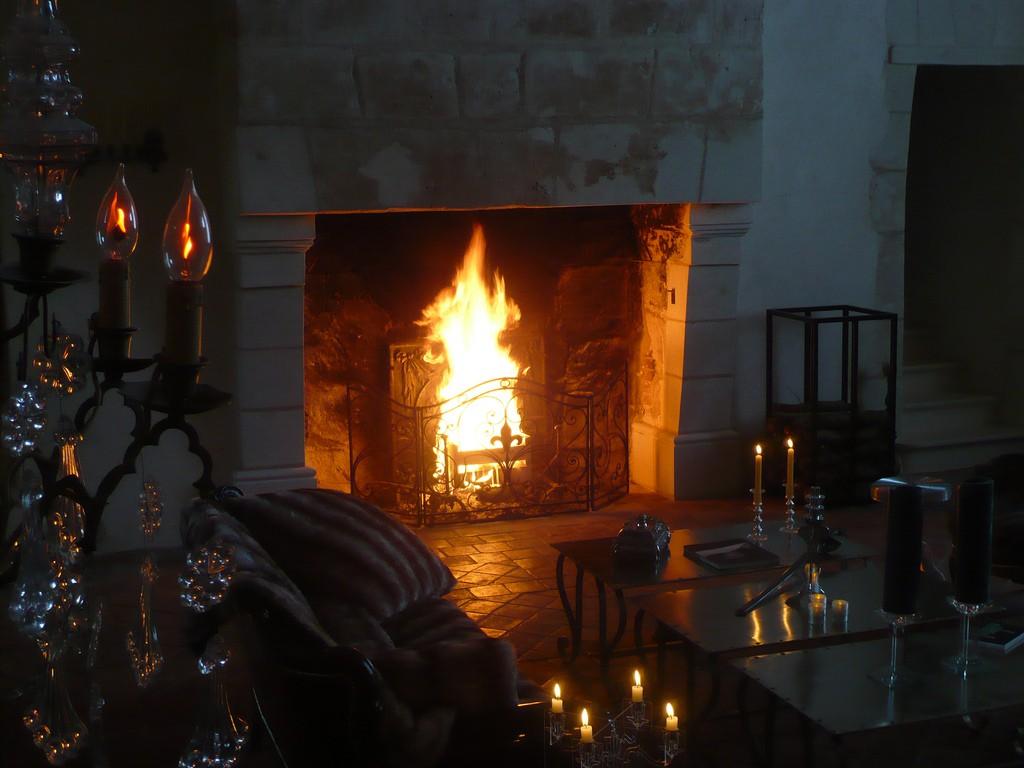 mariage hiver cheminée