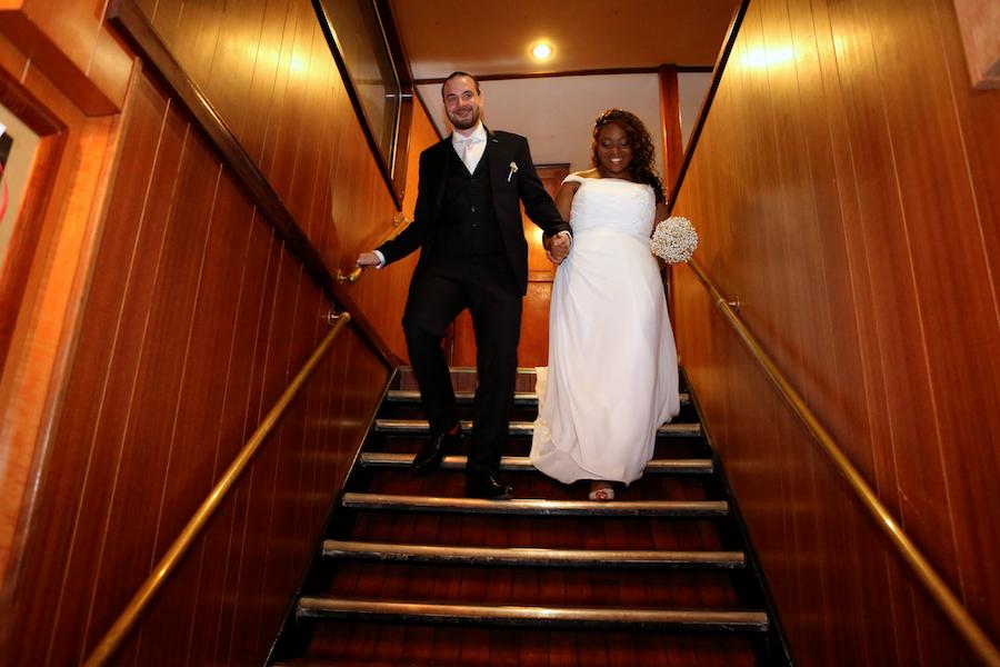 Entrée des mariés et discours d'accueil // Photo : Cynthia Cappe