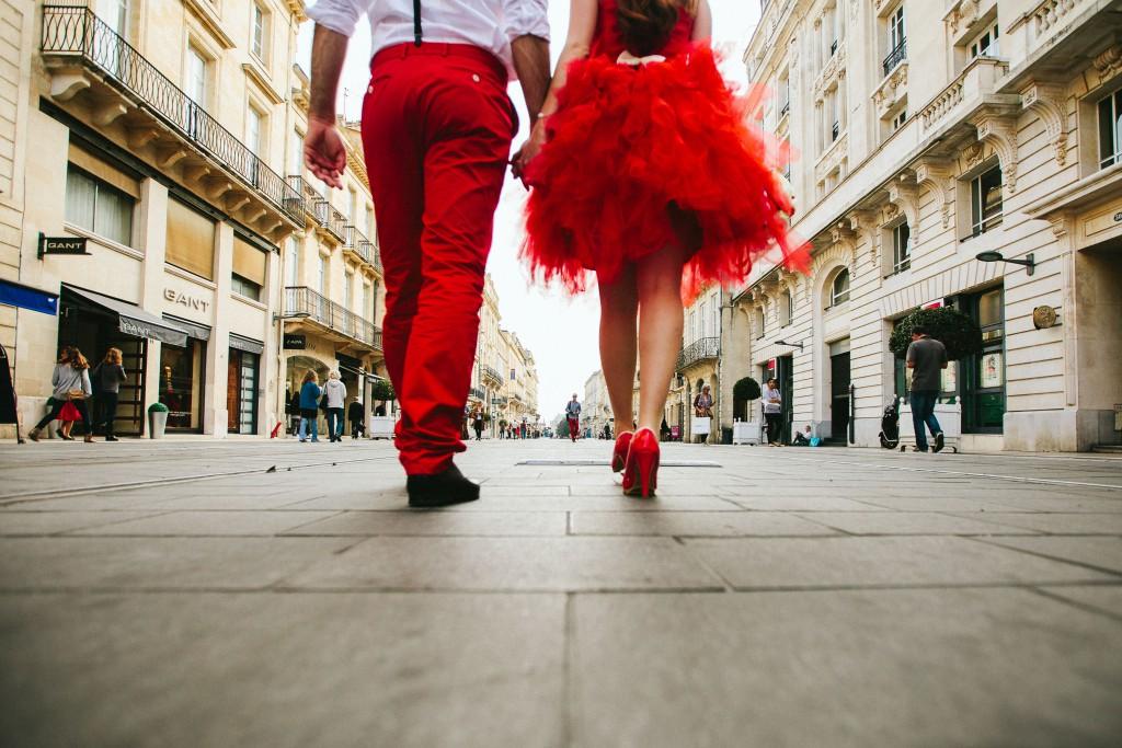 mariage en rouge