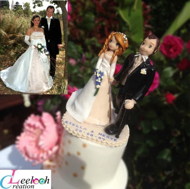 Limousin Wedding Cake Topper