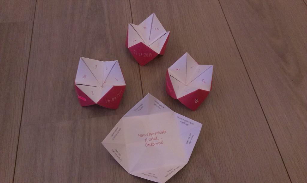 La déco de mon mariage : les cocottes en papier
