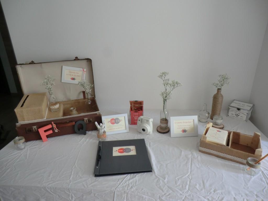 La déco de mon mariage : la table des souvenirs