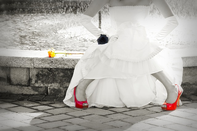 chaussures mariée rouge