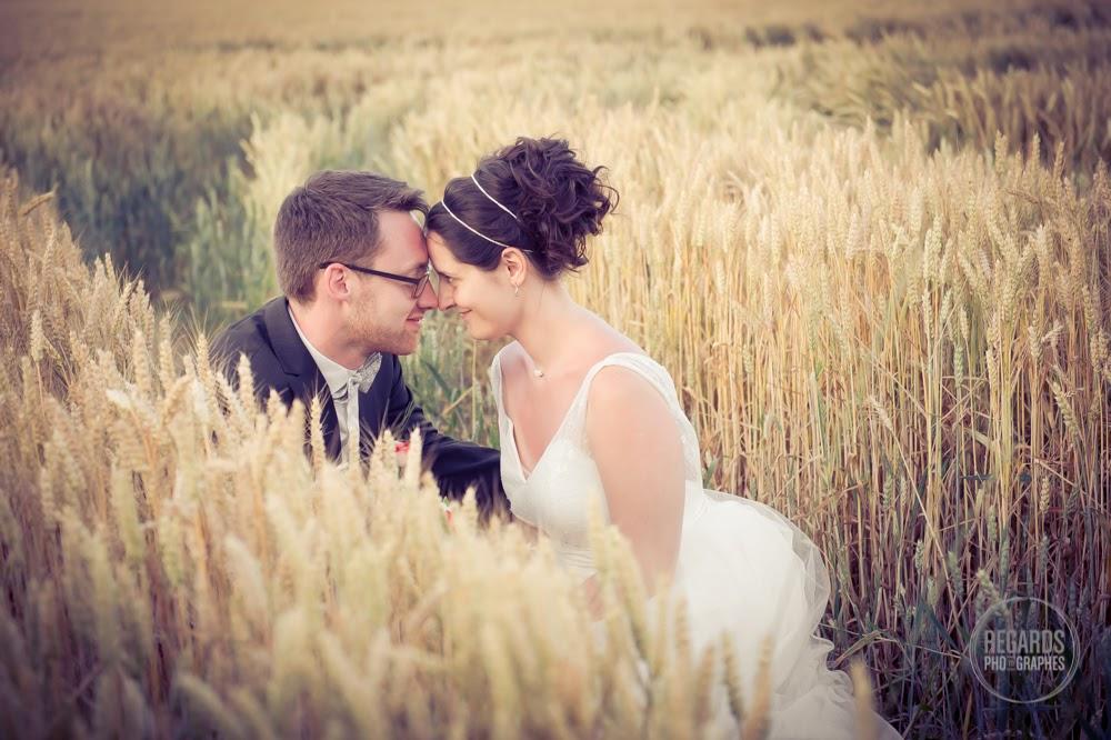 Le mariage de Mme G. avec des touches de rouge et de gris sans oublier les paillettes !