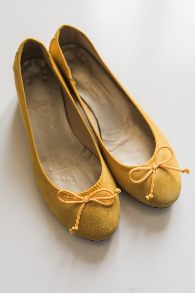 Mes accessoires de mariée : mes chaussures jaunes !