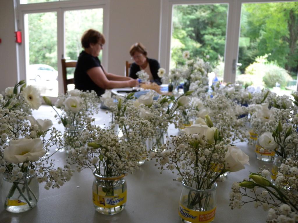 La décoration de notre salle en bleu et blanc