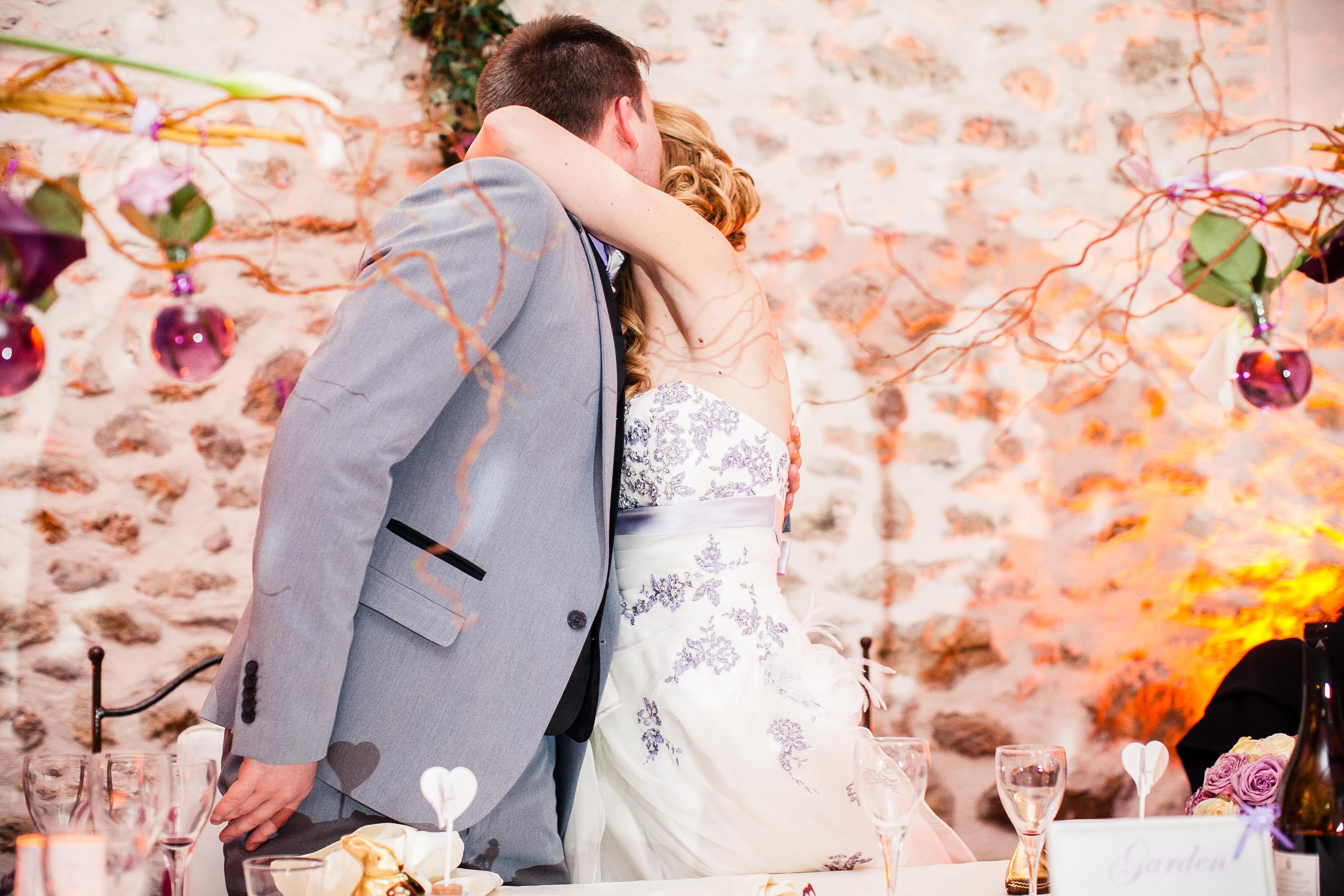 Mon mariage franco-américain en lilas et blanc : le vin d'honneur et la soirée