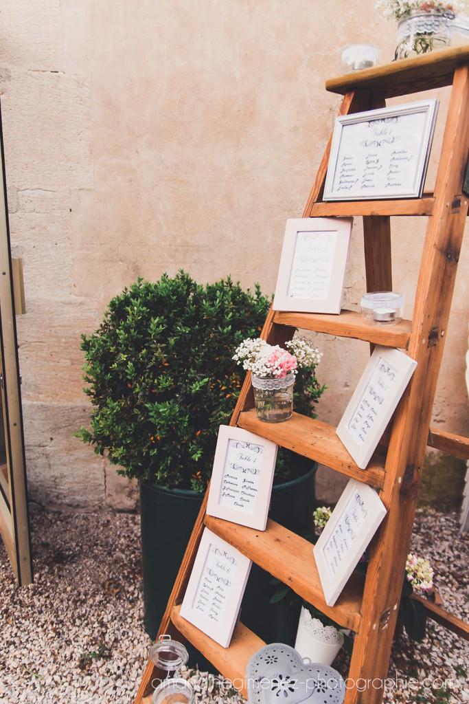 Décoration de notre salle de mariage // Photo : Amandine Gimenez