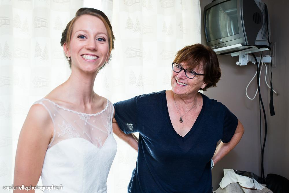 Les mariés s'habillent -Sonia Blanc