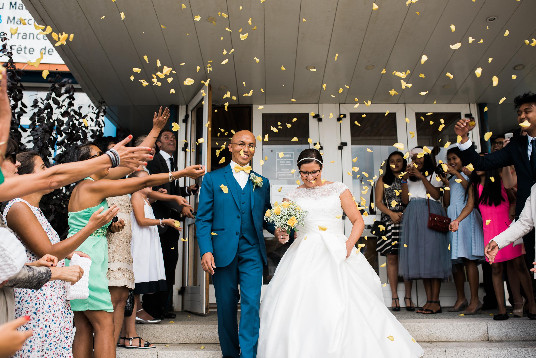 Mon mariage de princesse saveur citron : la sortie de la mairie et notre arrivée au château