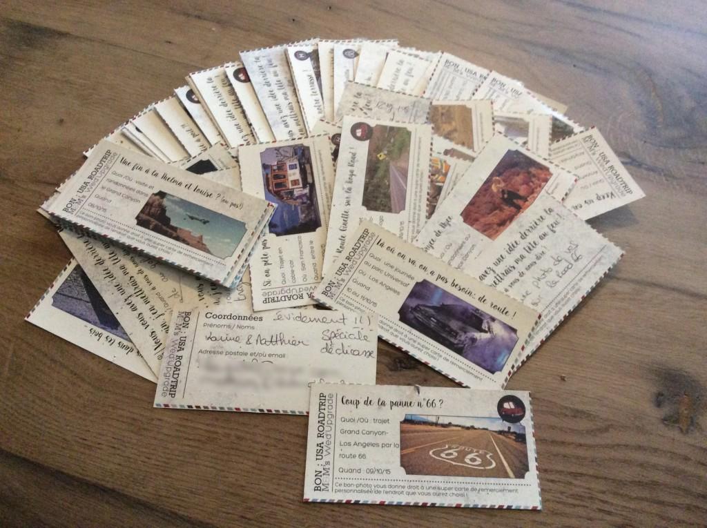 Des cartes de remerciements personnalisées après le mariage