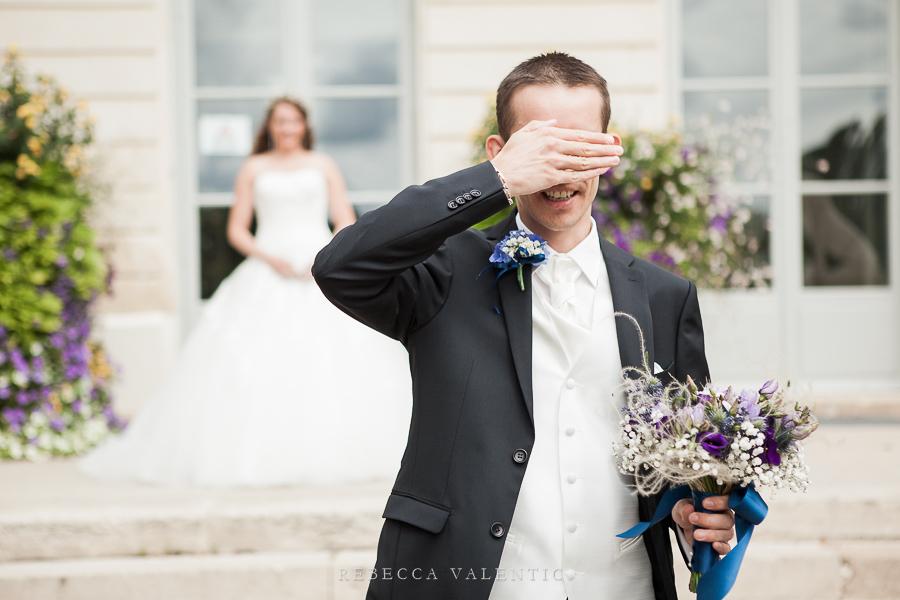 Le mariage de princesse en bleu de Madame D : la cérémonie et le vin d'honneur