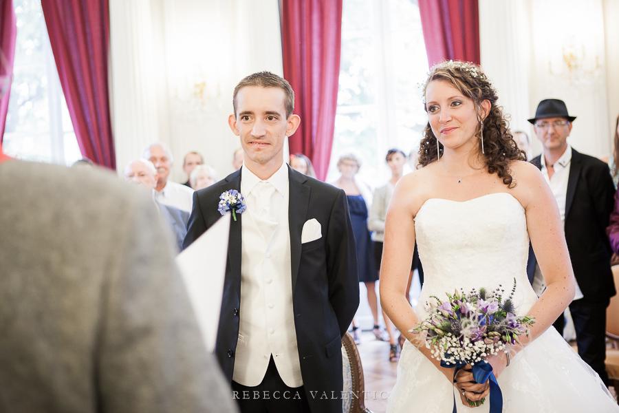 Le mariage de princesse en bleu de Madame D - cérémonie et vin d'honneur (11)
