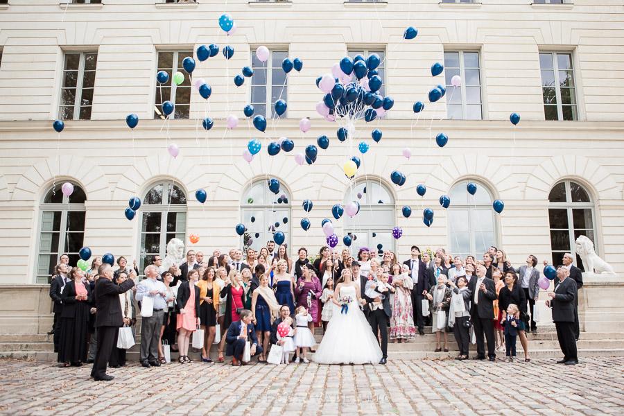 Le mariage de princesse en bleu de Madame D - cérémonie et vin d'honneur (15)