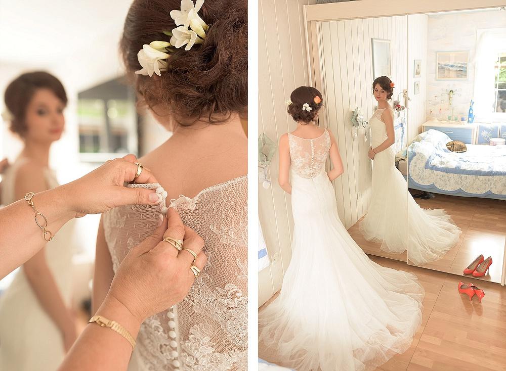 Le mariage romantique de Loulou aux touches corail (1)