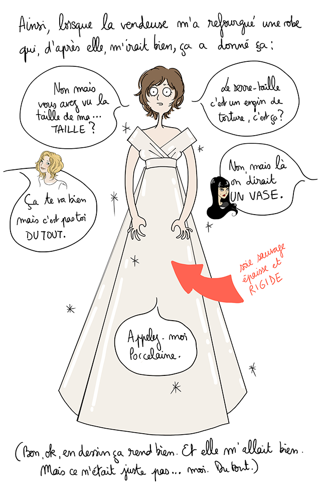 Comment choisir sa robe de mariée // Illustration : Bérengère Demoncy