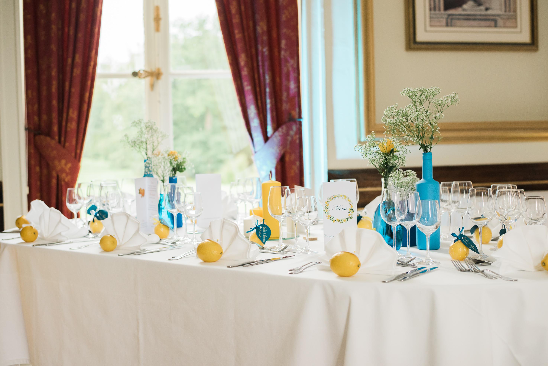Mon mariage de princesse saveur citron : focus sur la décoration