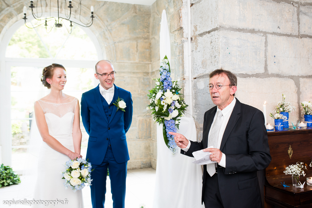 Mon mariage en bleu sur fond vert : notre cérémonie, le début