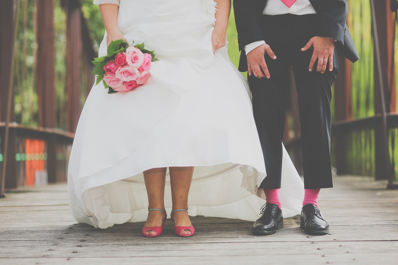 Le mariage fuchsia et crème de Anne