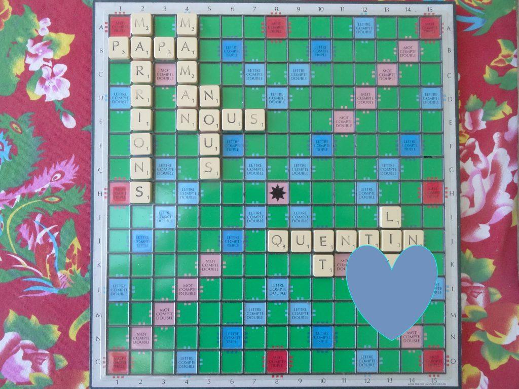 Annonce mariage Scrabble Mlle Briquette