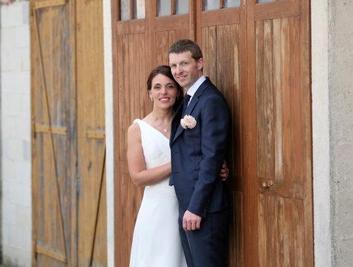 Mon mariage pastel et doré à la maison : au détour d'une vieille porte