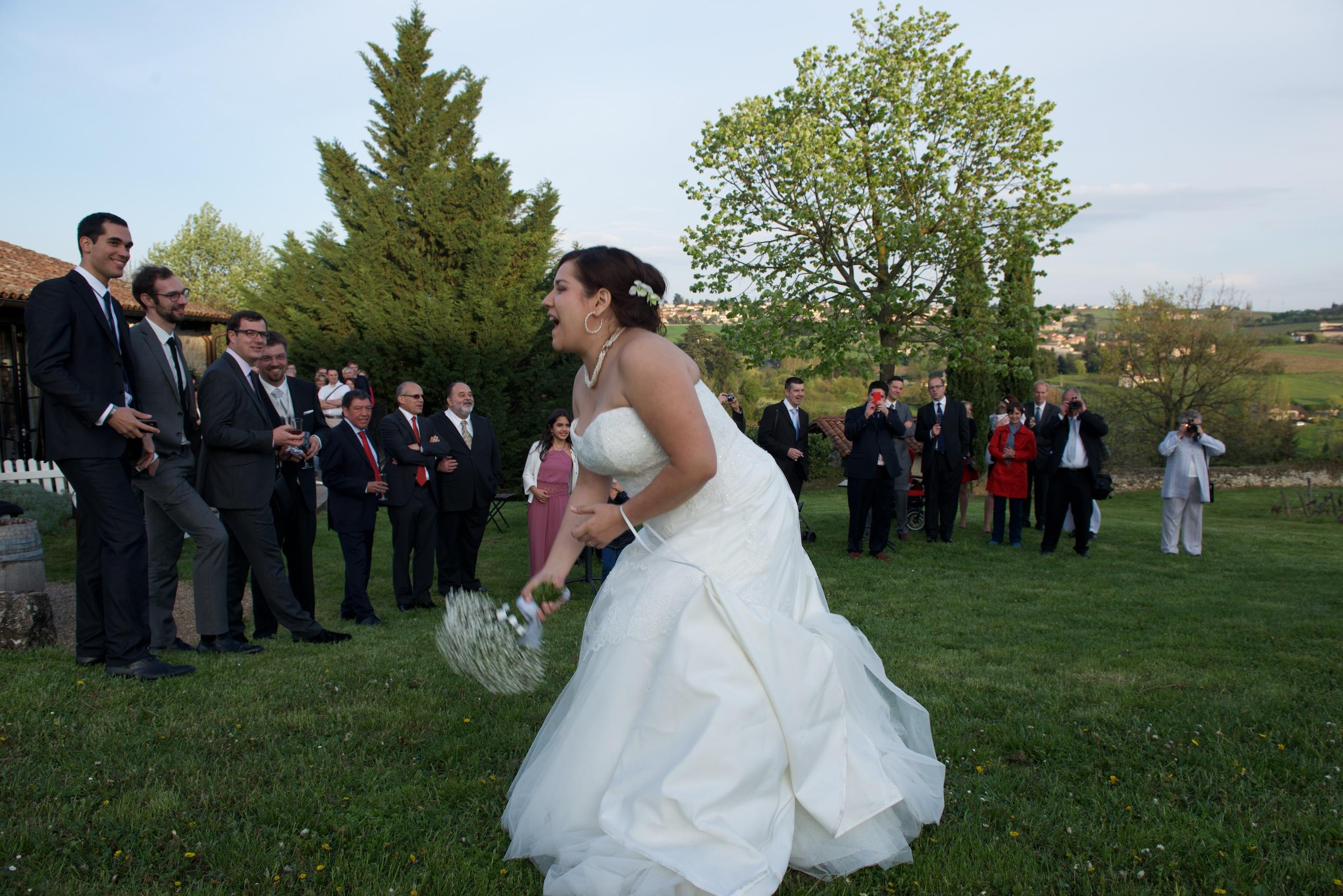 Mon mariage en gris et vert : le vin d'honneur