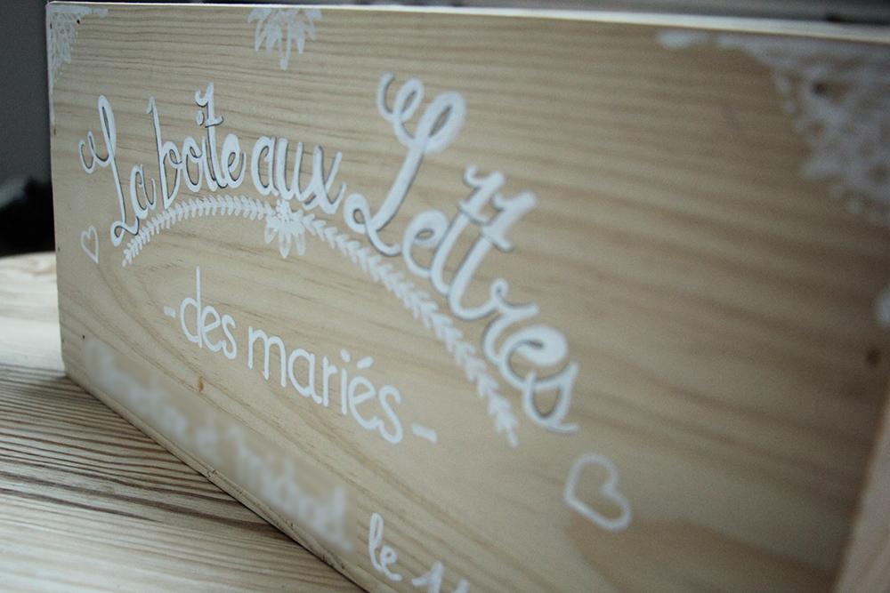 La boite aux lettres des mariés DIY