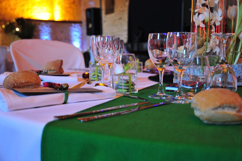 Mon mariage en gris et vert : la soirée