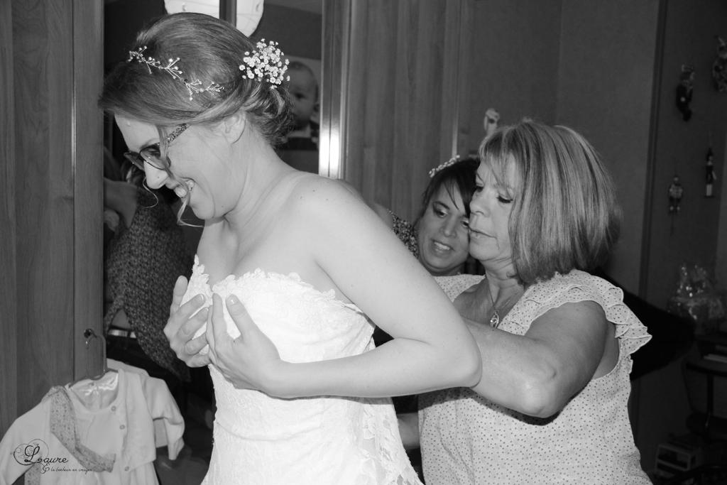Mon mariage un brin campagne, un poil rétro : la mariée se prépare