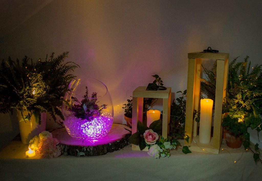 Décoration de la salle pour mon mariage d'hiver