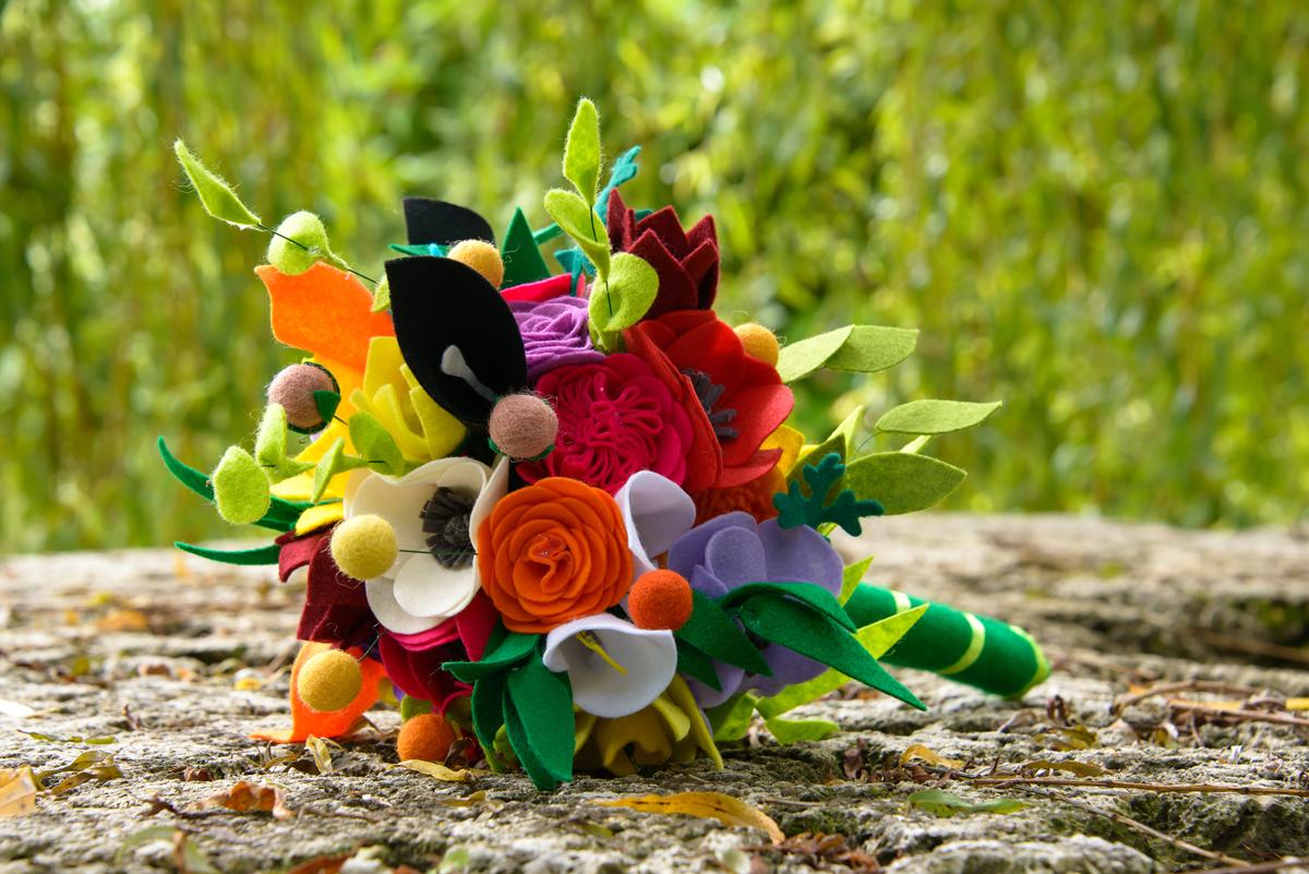 Le mariage kermesse et récup' créative de Loes