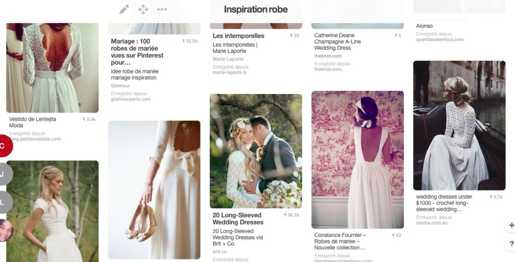 Mes recherches de robes sur Pinterest