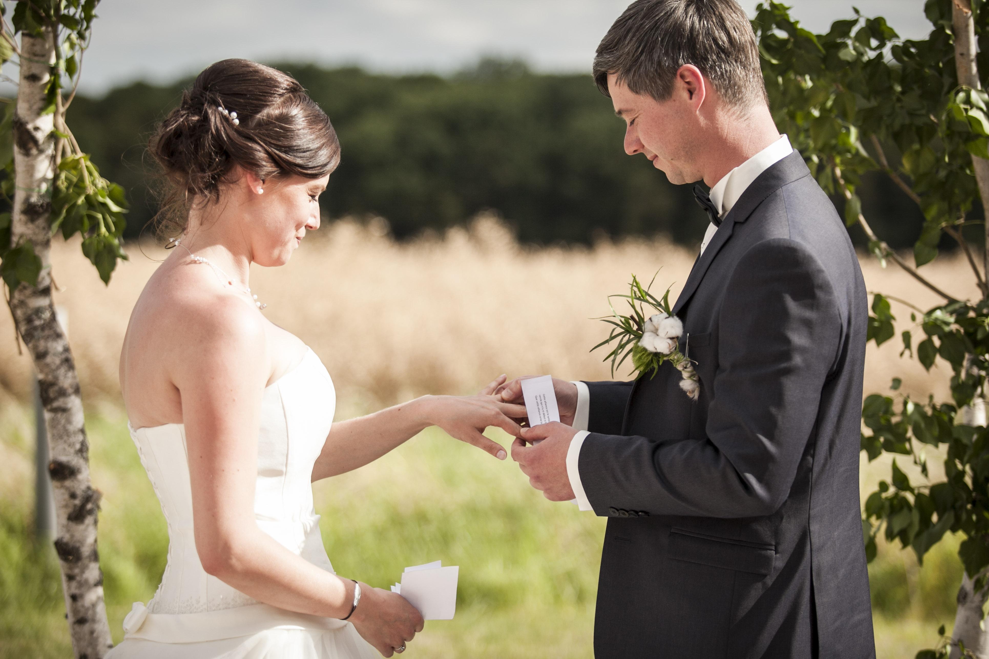 Le mariage nature de Mlle Broderie avec beaucoup de DIY